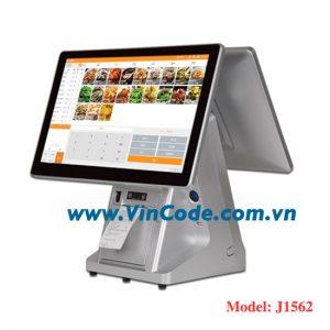 Máy pos tính tiền 2 màn hình chính hãng tại vincode