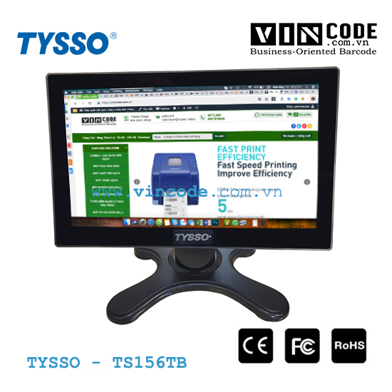 TYSSO TS156TB MÀN HÌNH CẢM ỨNG POS FULL HD