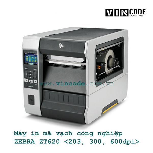Máy in mã vạch công nghiệp 203dpi ZEBRA ZT620