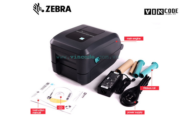 Máy in mã vạch Zebra GT800 và phụ kiện