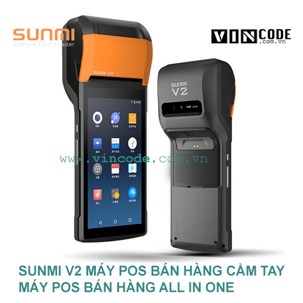 Máy POS bán hàng cầm tay Sunmi V2